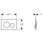 Кнопка Sigma 20, позолота/белый
