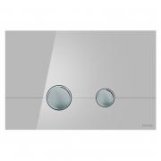 Кнопка Stero серое стекло