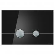 Кнопка Stero черное стекло