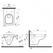 Инсталляция Duofix 3-in-1 458.126.00.1 + чаша унитаза Nova Pro Rimfree M33123000