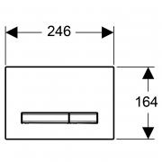 Кнопка Sigma 50 полірований хром