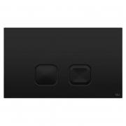 Кнопка смыва Plain Soft-touch 3/6 черная