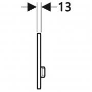 Кнопка Sigma 50 білий/червоне золото