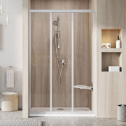 Душові двері ASDP 3-130 Transparent+сатин