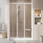 Душевая дверь ASDP 3-110 Transparent+белый