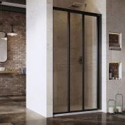 Душевая дверь ASDP 3-130 Transparent+черный