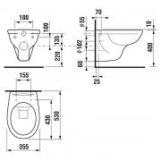 Інсталяційна система Eko Frame A89P00T010 + чаша унітаза Dino Rimless H8603770000001