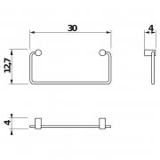 Тримач Basic для рушника