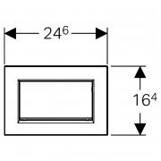 Кнопка Sigma 30, чорна / хром