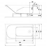 Ванна Comfort 150x75
