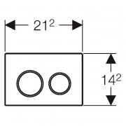 Кнопка Omega 30, черная