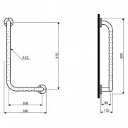 Поручень Lehnen Funktion левый, волнистая поверхность