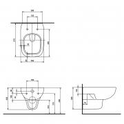 Інсталяційна система Duofix Delta 458.126.00.1 + чаша унітаза Style Rimfree L23120000 з сидінням