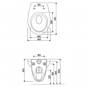 Інсталяційна система Duofix Delta + чаша унітаза Idol з поліпропіленовим сидінням
