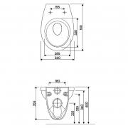 Инсталляционная система Duofix Delta + чаша унитаза Idol с дюропластовым сиденьем
