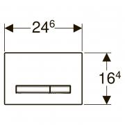 Кнопка Sigma 50 глянцевый хром