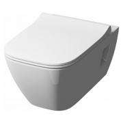Чаша унитаза Modo Pure Rimfree прямоугольная с сиденьем
