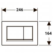 Кнопка Sigma 30 матова чорна