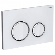 Кнопка Sigma 21 белое стекло