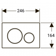 Кнопка Sigma 20 матовий / глянцевий хром
