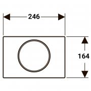 Кнопка Sigma 10 матовий / глянсовий хром