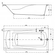 Ванна Zen 190x90 с ножками