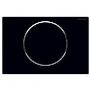 Кнопка Sigma 10 с легкоочищаемой поверхностью, черная/хром