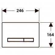 Кнопка Sigma 50 димчасте скло