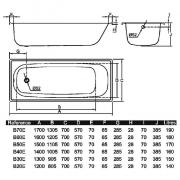 Ванна Aquart 130x70