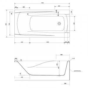 Ванна Zen 170x85