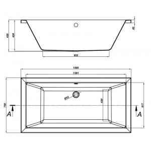 Акриловая ванна Intro 150x75