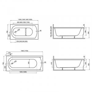 Ванна Classic 160x70