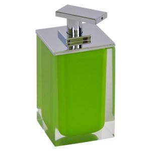 Дозатор Colours для жидкого мыла зеленый