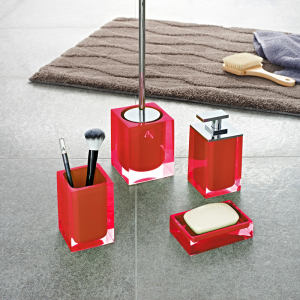 Дозатор Colours для жидкого мыла красный