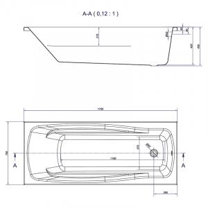 Ванна Lana 170x70 с ножками