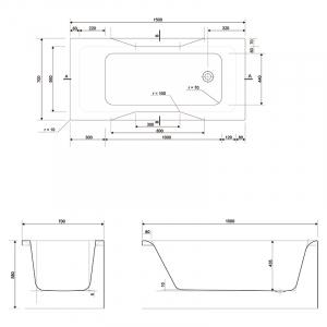 Акриловая ванна Pure 150х70