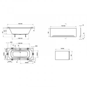 Акриловая ванна Campanula II 170x75