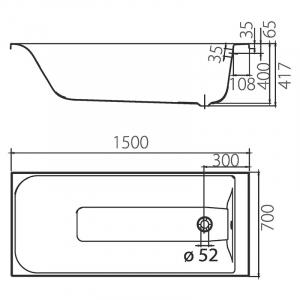 Ванна Фортуна 150х70