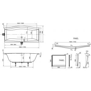 Акриловая ванна Magnolia 170x75