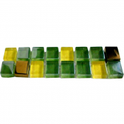 Фриз Мозаика зеленый с золотом