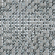Мозаика платина рельеф микс