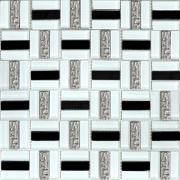 Мозаика Трино черно-белая