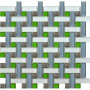 Мозаика Плетёнка серая