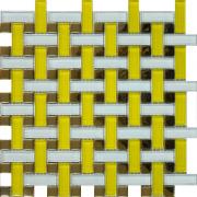 Мозаика Плетёнка желтая