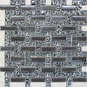 Мозаика Плетёнка платина рельеф