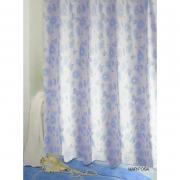 Шторка для ванной Mariposa голубая