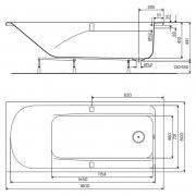 Ванна Comfort Plus 180x80
