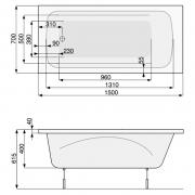 Ванна Klio 150x70