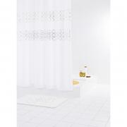 Шторка для ванной Paillette белая с серебряным