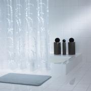 Шторка для ванной Dots белая